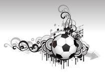 абстрактный творческий футбол конструкции Стоковые Фото