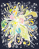 абстрактный темный цветок иллюстрация штока