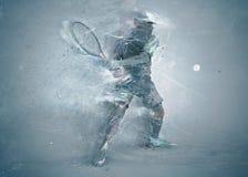 абстрактный теннис игрока стоковое фото