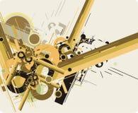 абстрактный техник будущего предпосылки иллюстрация штока
