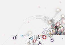абстрактный техник предпосылки Футуристический интерфейс технологии Стоковая Фотография
