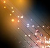 абстрактный техник предпосылки Футуристический интерфейс технологии Стоковая Фотография RF