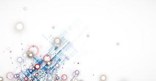 абстрактный техник предпосылки Футуристический интерфейс технологии Стоковое фото RF