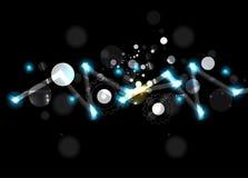абстрактный техник предпосылки Футуристический интерфейс технологии Стоковое Фото