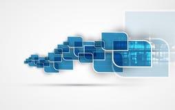 абстрактный техник предпосылки Футуристический интерфейс технологии Стоковое Изображение RF