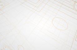 абстрактный техник предпосылки Футуристический интерфейс технологии Vecto Стоковое Изображение