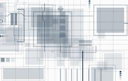 абстрактный техник предпосылки Футуристический интерфейс технологии Vecto Стоковая Фотография RF