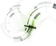 абстрактный техник предпосылки Футуристический интерфейс технологии Стоковые Фотографии RF