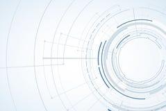 абстрактный техник предпосылки Футуристический интерфейс технологии Vecto иллюстрация вектора