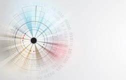 абстрактный техник предпосылки Футуристический интерфейс технологии Vecto Стоковое фото RF