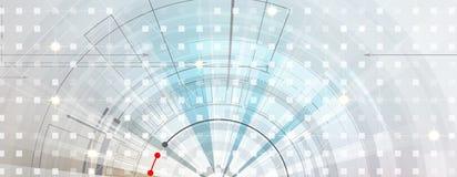 абстрактный техник предпосылки Футуристический интерфейс технологии Vecto Стоковое Фото