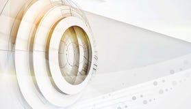 абстрактный техник предпосылки Футуристический интерфейс технологии Vecto Стоковые Изображения