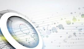абстрактный техник предпосылки Футуристический интерфейс технологии Vecto Стоковые Фото