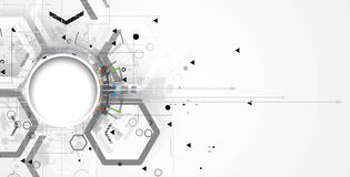абстрактный техник предпосылки Футуристический интерфейс технологии вектор Стоковые Изображения