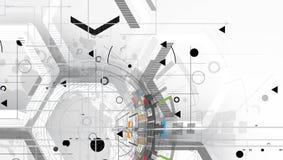 абстрактный техник предпосылки Футуристический интерфейс технологии вектор Стоковая Фотография RF
