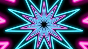 Абстрактный тоннель от красочных звезд иллюстрация вектора