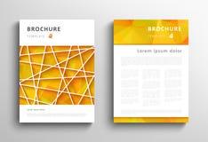 Абстрактный триангулярный шаблон дизайна брошюры стоковое изображение
