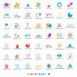 Абстрактный установленный логотип формы - вектор Стоковая Фотография