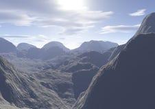 абстрактный утес ландшафта Стоковое фото RF