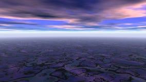 абстрактный фантастический ландшафт иллюстрация вектора