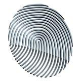 абстрактный фингерпринт 3d Стоковое Изображение