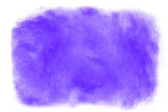 Абстрактный фиолетовый взрыв пыли на белой предпосылке Стоковое Фото
