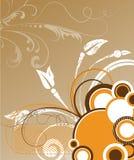 абстрактный флористический вектор иллюстрации Стоковое Изображение RF