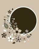абстрактный флористический вектор рамки Стоковая Фотография RF