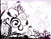 абстрактный флористический вектор Стоковая Фотография