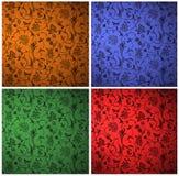 абстрактный флористический орнамент Стоковые Изображения RF