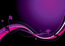 абстрактный флористический пурпур Стоковые Фотографии RF