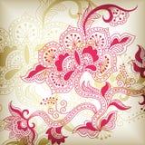 абстрактный флористический h Стоковое Фото