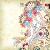 абстрактный флористический quetzal Стоковое Изображение