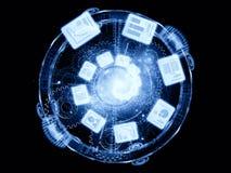Абстрактный фон документа Стоковые Фотографии RF