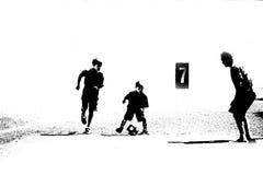 абстрактный футбол 3 игроков Стоковые Фотографии RF