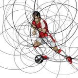 абстрактный футбол игрока Стоковое Фото