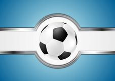 абстрактный футбол конструкции Стоковая Фотография RF