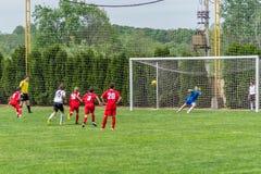 абстрактный футбол штрафа пинком футбола предпосылок Стоковые Фотографии RF