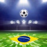 Абстрактный футбольный стадион Стоковые Фотографии RF