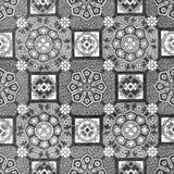 Абстрактный флористический год сбора винограда плитки мозаики 31 Стоковое Изображение