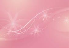 Абстрактный флористический свет - розовая предпосылка для дизайна Стоковое Изображение