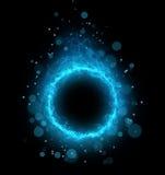 Абстрактный холодный голубой дым круга иллюстрация вектора