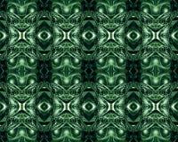Абстрактный художественный компьютер 3d произвел уникальное множественное зеленое художественное произведение картин форм фрактал иллюстрация штока