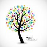 абстрактный цветастый вал дуба иллюстрация вектора