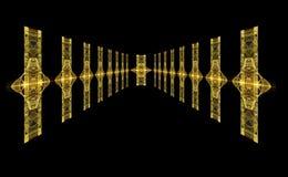 абстрактный цветастый корридор футуристический иллюстрация вектора