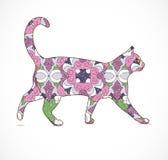 Абстрактный цветастый кот Стоковое Изображение