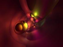 абстрактный цветастый лоснистый красный цвет 3d представляет желтый цвет Стоковые Фотографии RF