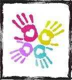 абстрактный цветастый любовник рук Стоковое Изображение RF