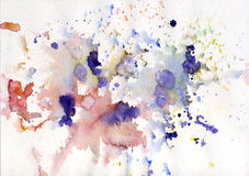 Абстрактный цветастый пурпур предпосылки акварели бесплатная иллюстрация