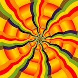 абстрактный цветастый радиальный спектр иллюстрация штока